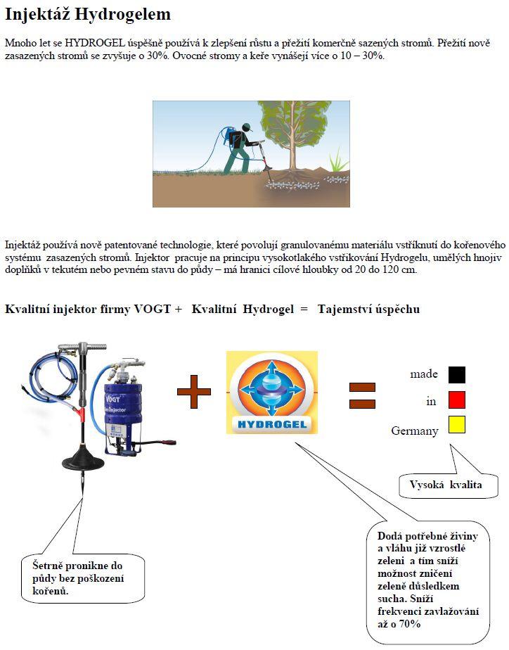 Injektáž hydrogelem